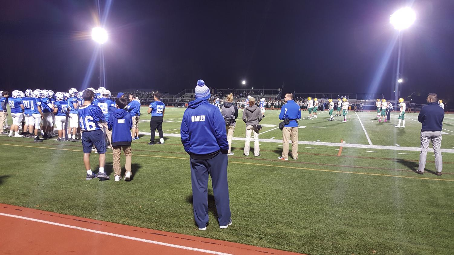 On the sidelines
