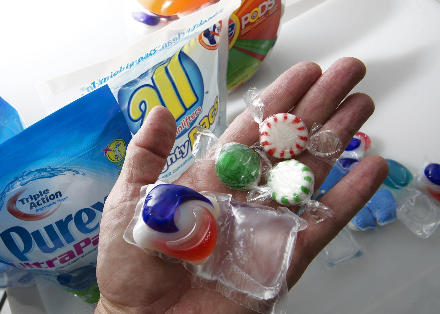 The Tide Pod packets are NOT food, no matter how tasty they look. (Tom Burton/Orlando Sentinel/MCT)
