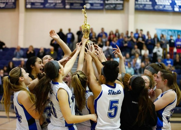 The+Girls+Basketball+Team+celebrates+their+final+win+of+the+Hunterdon%2FWarren%2FSussex+Tournament+against+Hunterdon+Central+to+go+home+as+champions.+%28Photo+courtesy+of+Saed+Hindash+%7C+The+Express+Times%2Flehighvalleylive.com%29