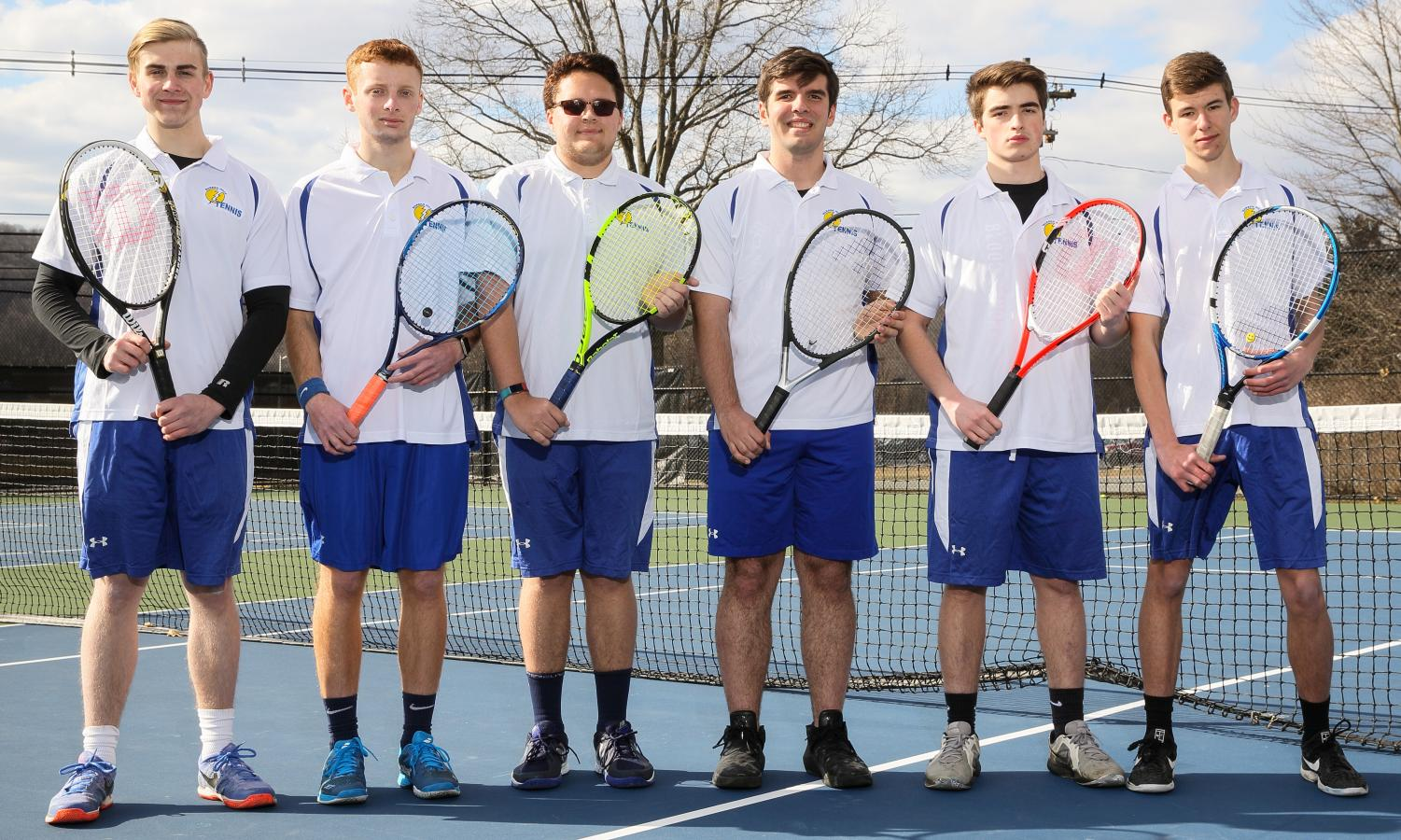 The boys tennis seniors have grown together for the last 4 years to accomplish their best season on the court yet after an offseason full of hard work. (Photo courtesy of Lamaton Yearbook)