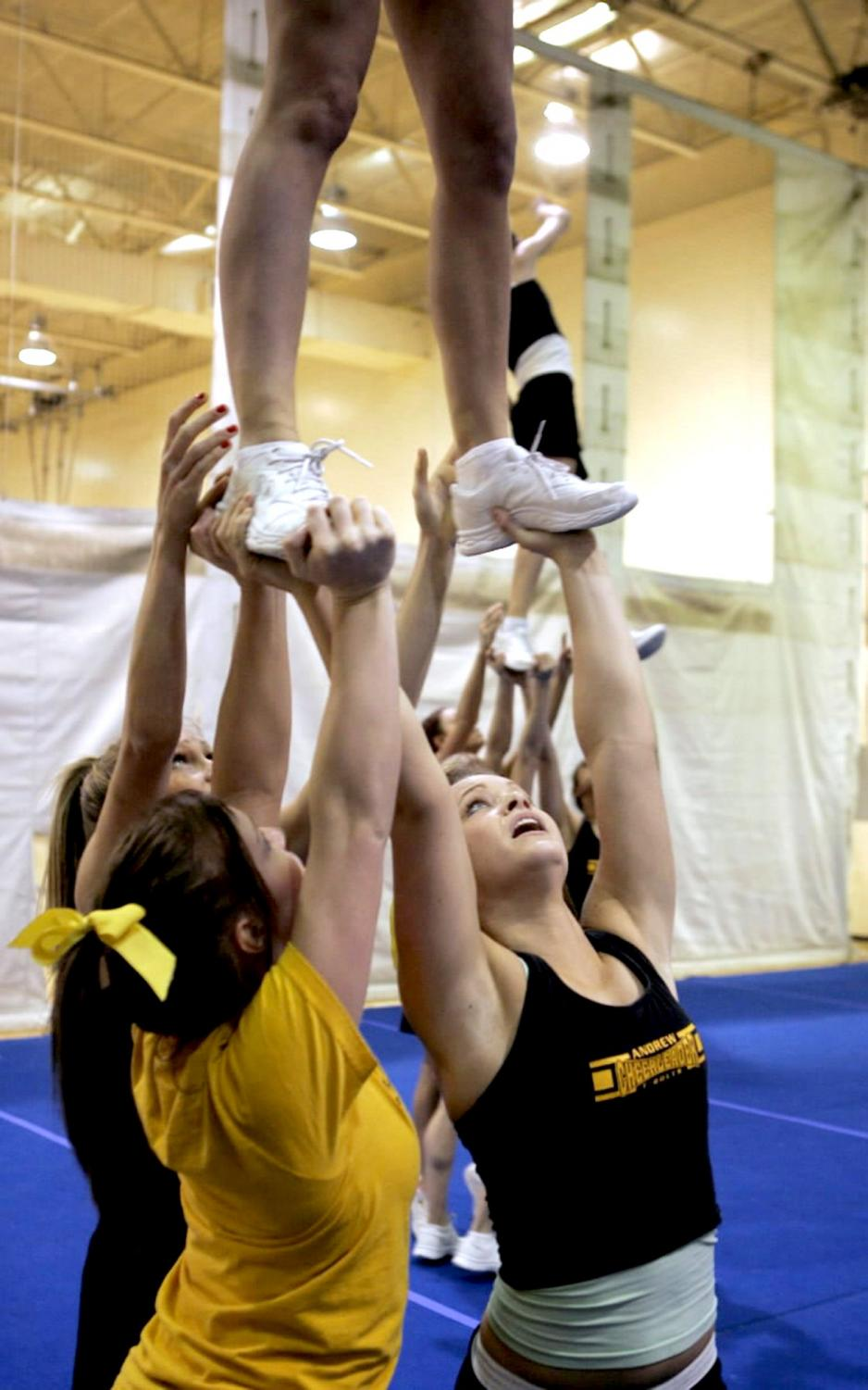 According to Live Science, there were 22,900 cheerleading-related injuries in the United States in 2000. (Terrence Antonio James/Chicago Tribune/KRT)