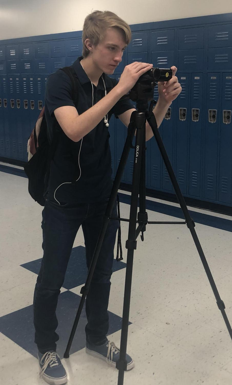 Nijl Allen can often be found filming in school and around Washington. (Photo by Alex Schwalb)