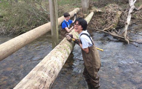 SAVE Students Rebuild Bridge to Complete Hiking Trail