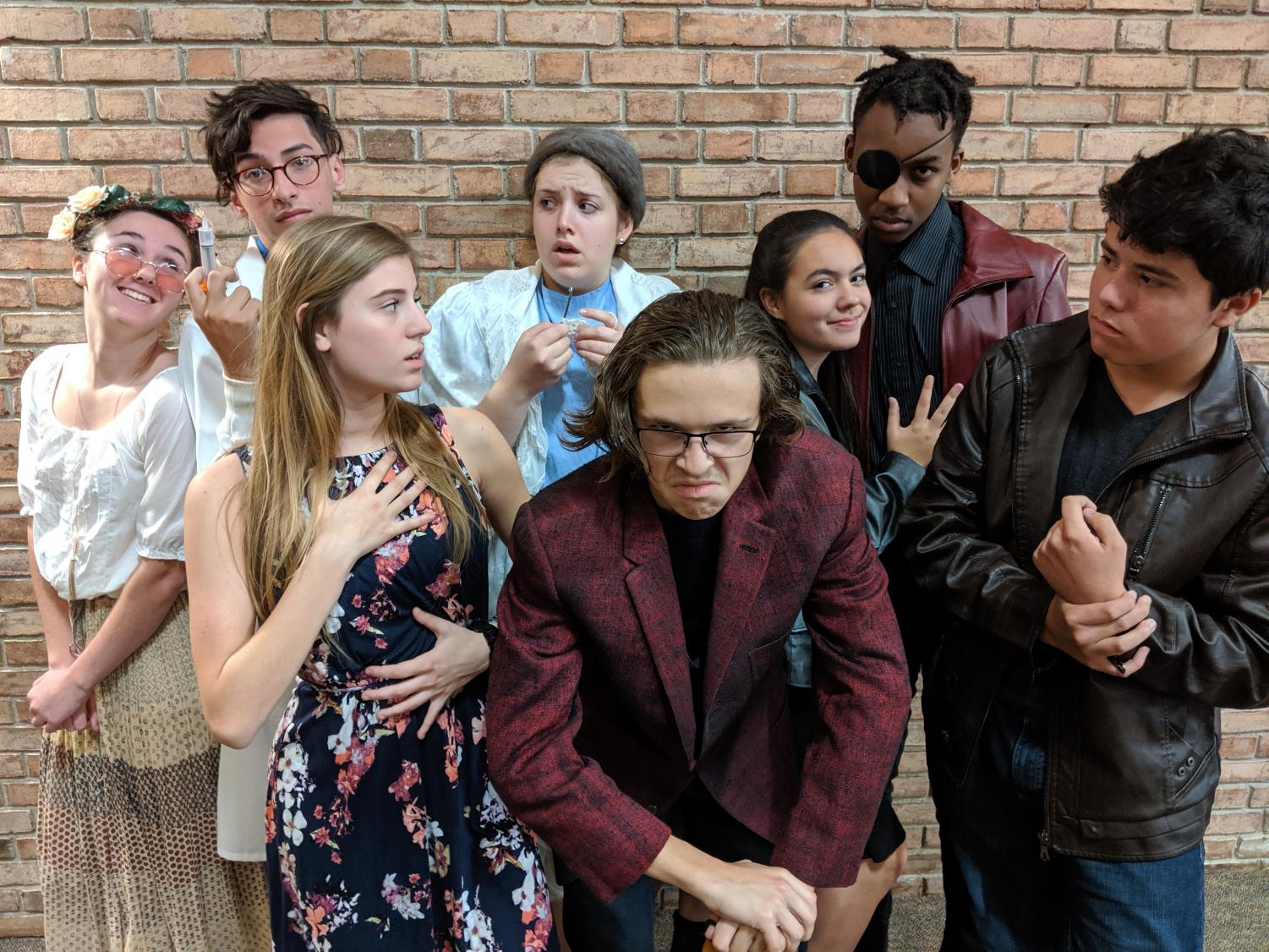 The Cast of the Fall Play: Playing the soap opera characters, as well as their own characters are: Sophomore Wesley Reyes as Jake Strong/Morris Nyborg;  Senior Iyan Kariuki as Sebastian Strong/Bill Wiley;  Junior Henry Goodnick as Valencio Di Carpathio/John Burke;  Senior Elijah Camacho as Doctor William Bradley/Tyler Tripodo;  Junior Emily Gilligan as Mona Jeffries/Cybil Dane;  Senior Vanessa Falzarano as Eileen Silvertedt/Amy White;  Sophomore Julianne Magistrado as Jessica Silverstedt/Danielle Farris; Junior Ellie Higgins as Sequoiya/Lily Baumgartner. Playing the roles of the soap opera staff are:  Junior Carlee Fisco as Oli, the director;  Senior Alex Lino as Kaitlin, the stage manager;  Senior Emma Kaiven as Keri, the intern; Junior Dani Gilbert as Brooke, the camerawoman;  Juniors Samantha Lewis and Amy Twohig as Miles/Mary, the producer.