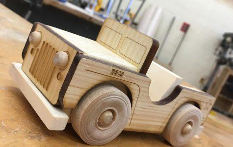 Wood Manufacturing Classes Create Miniature Jeeps