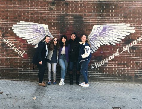 Some of the members of the Debate Team visiting the Harvard campus during their trip. (Photo Courtesy of Mrs. Penny Giamoni)