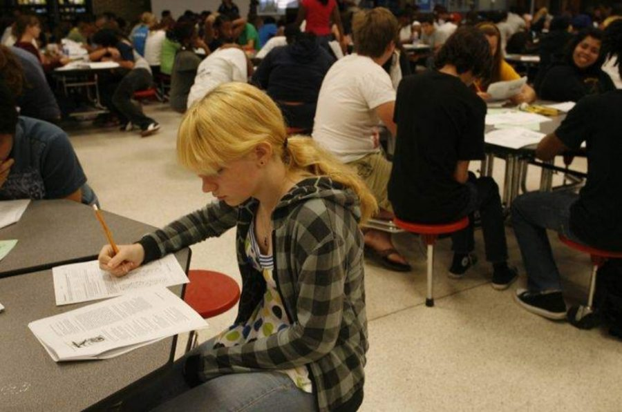 The AP Exams are typically administered in a timed and monitored environment, but school closures due to the COVID-19 pandemic caused the exam format to be switched to an online, at-home abbreviated version. (MCT/Times)