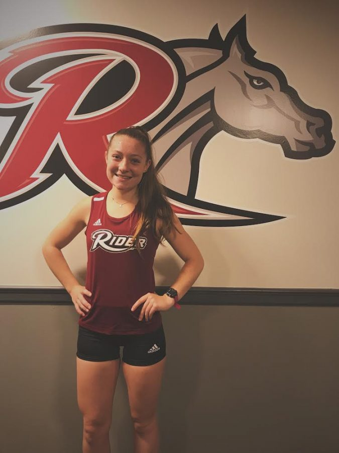 """Angela Riedinger is running Division One Cross Country and Track and Field at Rider University in 2020. Riedenger said that she chose Rider because she has """"loved it there ever since my sister decided to attend this school when she was a senior in high school. The atmosphere is great and very welcoming."""""""