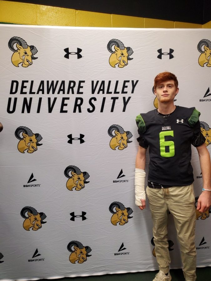 """Ryan Monahan will be playing Division Three Football at Delaware Valley University in 2020. Monahan said he found his niche in football at middle school age.  """"I started playing football for the Panthers when I was in seventh grade,"""" he said. """"I had been a soccer player up until then and at the time, the middle school did not have a soccer team, so I went to rec football and I haven"""