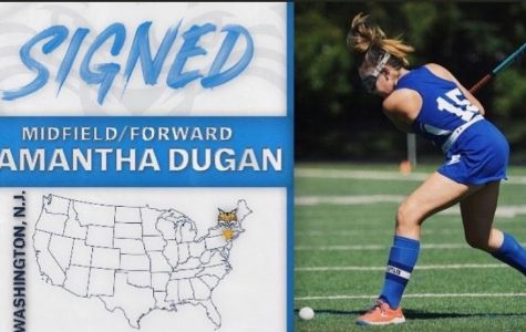 "Samantha Dugan graduated in January of her senior year and is playing Division One Field Hockey at Quinnipiac University. Dugan said she is especially looking forward to the 2020  fall season. ""I graduated early and started playing on the team in January and was so excited to do so,"" she said.  ""Because of the pandemic, our spring season ended early, so I am really looking forward to our games this fall and for road trips with the team."""