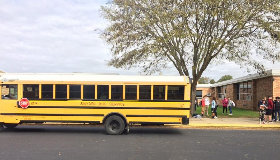 "According to the National Center for Education Statistics, a government organization which compiles data on Indicators of School Crime and Safety, the term, 'at school'  includes ""the school building, on school property, on a school bus and going to and from school."" (Photo by Emily Deming)"