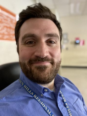 """Chiara said that he is thankful for his co-workers and especially so during COVID and all the changes that have impacted education. """"Thankfully, it's been great pinging ideas off of my co-workers as to what works and what doesn't. It's been a joint effort, for sure,"""" he said."""