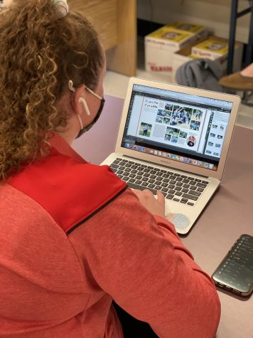 Yearbook Students Work on Spring Supplement