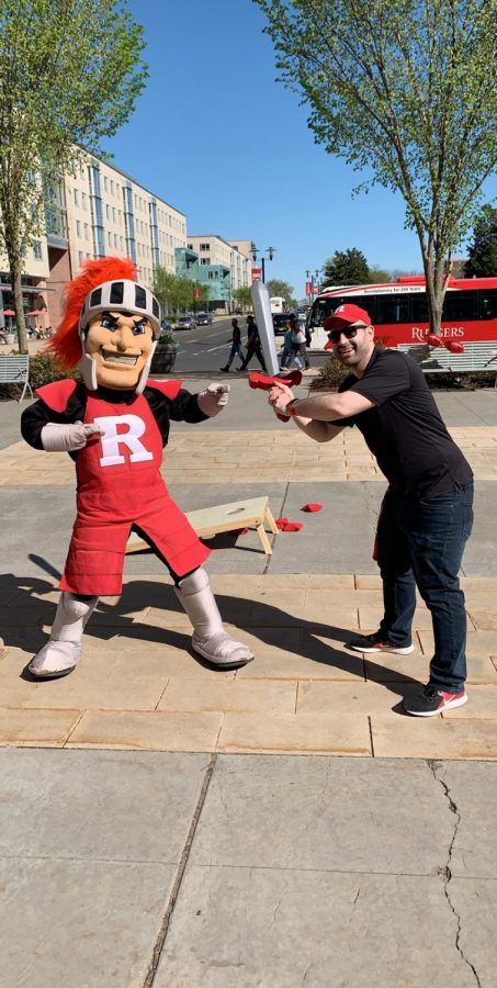 Always school-spirited, Cory Orlando said he still draws upon his high school experiences in Peer Leadership, Cheerleading, and Journalism in his Marketing and Strategic Communications job at Rutgers.