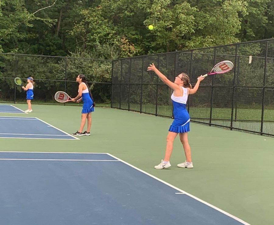 JV Girls Tennis Beats Phillipsburg